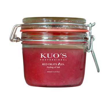 PEELING DE SEL FRUITS ROUGES KUO'S.